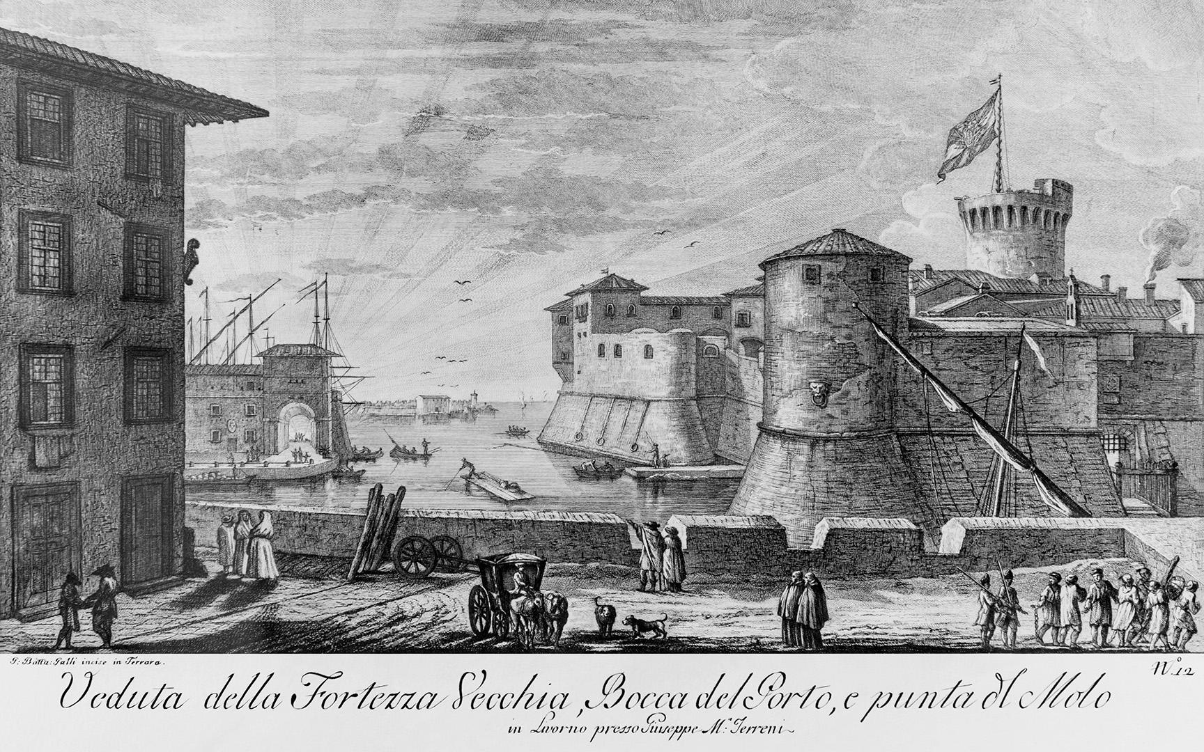 Fortezza Vecchia di Livorno - Stampa antica