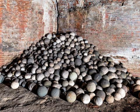 Fortezza Vecchia di Livorno - Palle di cannone