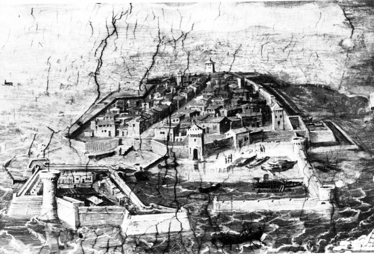 Livorno - Castello dipinto dal Vasari